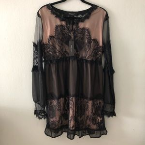 Romeo + Juliet Lace and Chiffon Dress
